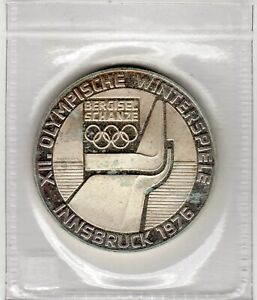 1976 Proof  Coin 100 Schilling - Silver - Winter Olympics - Mintmark: Shield