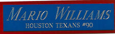 MARIO WILLIAMS TEXANS NAMEPLATE AUTOGRAPHED SIGNED FOOTBALL HELMET JERSEY PHOTO