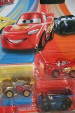 "DISNEY PIXAR CARS ""MINI GOLD RUST-EZE CRUZ RAMIREZ, MINI MCQUEEN, JACKSON STORM"""