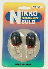 JDM Nikko Red T20 7440 Single Filament Wedge Bulbs 21W Euro Clear Tail Lights