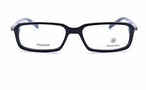 NWT MERCEDES BENZ EYEGLASSES frame black cellulose acetate titanium luxury Italy