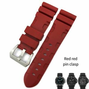 22 24 26 mm Silicone Watchband For PANERAI Sumbersible Rubber Wristband Strap