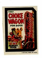 1973 Rare Topps Wacky Packages Choke Wagon 4th Series 4 Pulled Sticker Card EX