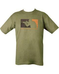 Military Army Combat Printed Major Legue Warfare T-shirt Tshirt Green Para XL