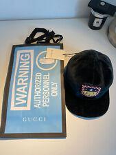 Gucci Bottle Green Velvet Velour Bee Crest Badge Baseball Cap Hat
