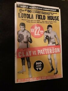 Mohammed Ali Clay  vs. Floyd Patterson old boxingposter Las Vegas 1965?