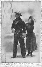 Cowboy Series Calling The Bluff 1910 Western Postcard Postcard Ontario Canada