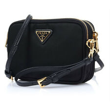 Prada Mini Cross Bag 1NF861 2AB5 F0002 Tessuto Black Color Free Fedex Shipping