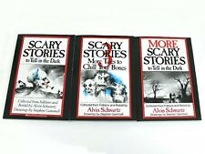 Scary Stories to Tell in the Dark 3 Book Set Childrens Alvin Schwartz Movie NEW