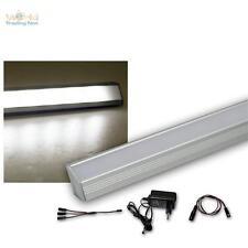 2er Set LED Alu-Eck-Leiste kaltweiß + Trafo Unterbauleuchte Küchenlampe Streifen