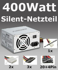 PC Netzteil 400W Power 400 Watt ATX Computer Strom SATA sehr leise Silent Neu