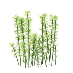 Kids Toy 100 Pcs Green Plastic Model Bamboo Trees Scale 1:75-1:300 Garden Y6T8