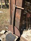 "Vintage  48 "" ~2 Man ~Logging Crosscut Bucking Saw Tool With Good Handles"