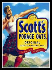 Scott's Porage Oats, Retro metal Sign/Plaque Wall vintage / Kitchen Gift