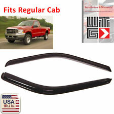 WTG Window Visor Shade Guard 1999-2016 Ford F-250 F250 Regular Standard Cab 2pc