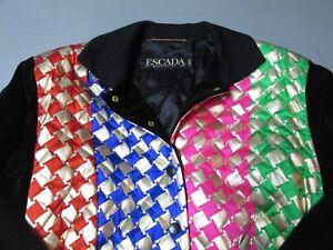Escape By Margaretha Ley Women's Silk Button Down Jacket 38 Medium Gold Pink