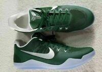 Nike Kobe XI TB Promo Basketball Shoes Green Metallic Silver SZ 18 856485-331