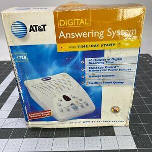 New AT&T Digital Answering Machine System Digital Tapeless 1738 English Spanish