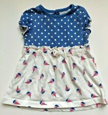 Circo Brand Dress Outfit With Polka Dot Top & Sailboat Bodice Size 9 Months