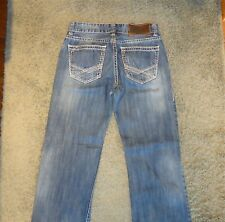 MENS SIZE 31 ROCK & ROLL COWBOY DOUBLE BARREL RELAXED ZIP FLY JEANS ACTUAL 31X33