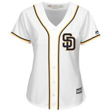 Women's San Diego Padres Majestic White Cool Base League Diva Raglan Jersey