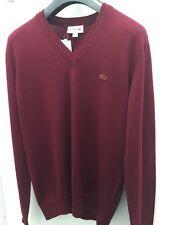 Lacoste men's v neck wool jersey sweater