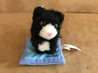 Licorice on blue pillow American Girl Doll of today friend pet black cat animal