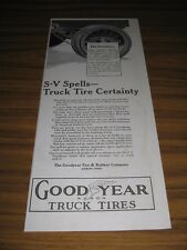 1915 Print Ad Goodyear Truck Tires Made in Akron,Ohio