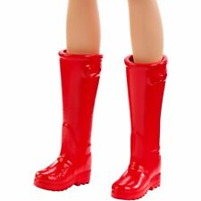 Barbie Calf High Red Riding Boots ( Boots Only)
