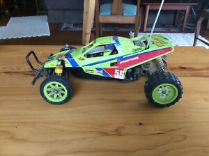 Tamiya vintage Grasshopper 2 RC car (58074) with battery, charger, transmitter