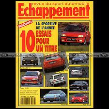 ECHAPPEMENT N°278 PORSCHE 968 CORRADO VR6 ASTRA GSi CIVIC VTi MAZDA MX3 CLIO 16S