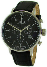 Ruhla Chronograph Herrenuhr mens watch Made in Germany Edelstahl Bauhaus Stil