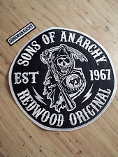 Sons Of Anarchy Redwood Original Reaper Round Jacket Patch Biker Gang FX TV Show