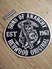 Sons Of Anarchy Redwood Original Reaper Round Jacket Patch Biker Gang FX TV Show