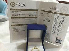 14k yellow gold and GIA certified diamond engagement ring .50ct