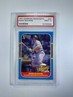 1987 Donruss Highlights Mark McGwire Rookie Baseball Card #46 PSA 9 Mint