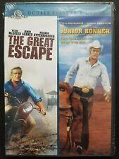 The Great Escape / Junior Bonner (Dvd, 2008, Double Feature) Steve McQueen New