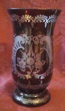 Beautiful Ruby Red Bohemian Glass Vase