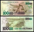 Brazil 100000 CRUZEIROS Sign 30 ND 1992 P 235b UNC OFFER !