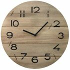 Shabby Chic Wooden Driftwood Wall Clock ~ 35Cm Wooden Wallclock