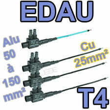 EDAU 150-25 T4 lot de 4 embouts de branchement (3Ph+1N) 50 à 150 vers 25mm²
