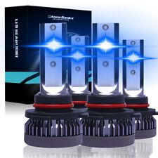 Combo 9005 9006 Ice Blue 8000K Cob Led Headlight Kit Bulbs High Low Beam Us (Fits: Acura Vigor)