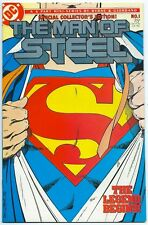 MAN OF STEEL #1 Oct 1986 NM+ 9.6 W SPECIAL COLLECTOR'S EDITION SILVER LOGO BYRNE