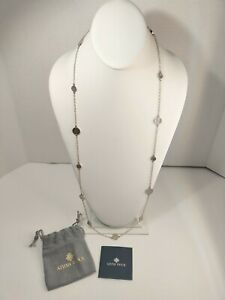 Vintage Anna Beck Lozenges Rounds Sterling Silver  Dots Necklace