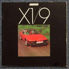 FIAT X1/9 2 Seater Sports Car Sales Brochure 1978