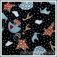 BonEful Fabric FQ Cotton Quilt Noahs Ark Animal Star Heart Nursery Baby B&W Dot