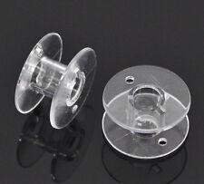 50 Bobines de Fil Plastique Transparent Navettes pr Machine à coudre 20x11mm