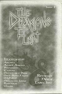 The Dragon's Flight 1999 Death Metal Zine- #1 issue! Arcana Cannan Unholy