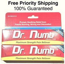 2x Dr Numb 5% Lidocaine Cream 30 gr Skin Numbing Tattoo/Removal Wax Exp. 05/20