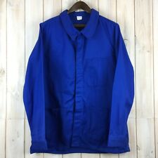 Dead Stock Chore Jacket French Work Worker Workwear Bright Blue Cotton 52 M / L